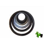 Wandanschluss für Luftschlauch 125mm