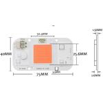 COB LED 50W treiberlos, wasserfest