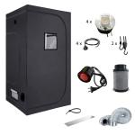 Komplettset 80 Grow COB Pflanz LED 200W Growzelt inkl....