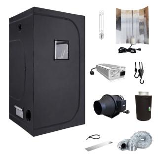Komplettset 100 Grow elektr. Vorschaltgerät dimmbar NDL 400W inkl. Abluftset