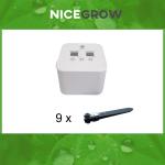 Bewässerungsset für Growboxen bis zu 9 Pflanzen...