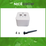 Bewässerungsset für Growboxen bis zu 4 Pflanzen...