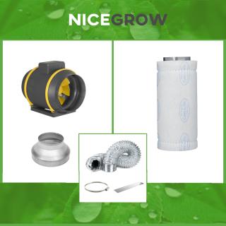 Air Set 200 Can-Filters Max-Fan - Rohrventilator 200mm 1218 cbm/h / Aktivkohlefilter Can-Lite 1500 cbm/h