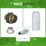 Air Set 200 Can-Filters Max-Fan - Rohrventilator 200mm...