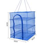 Trockennetz 50x50x65cm quadratisch 4-Fächer mit...