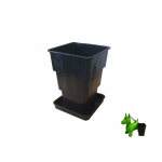 5,5 und 8L liter 4-Kant Topf viereckig Vierkant-topf Blumentopf mit Unterschale