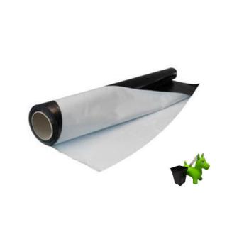 Schwarz Weiß Folie lfm 2m Breite