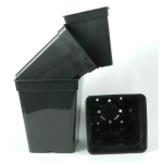 Vierkant-topf 3 -11 L liter 4-Kant Topf viereckig Blumentopf mit Untersetzer