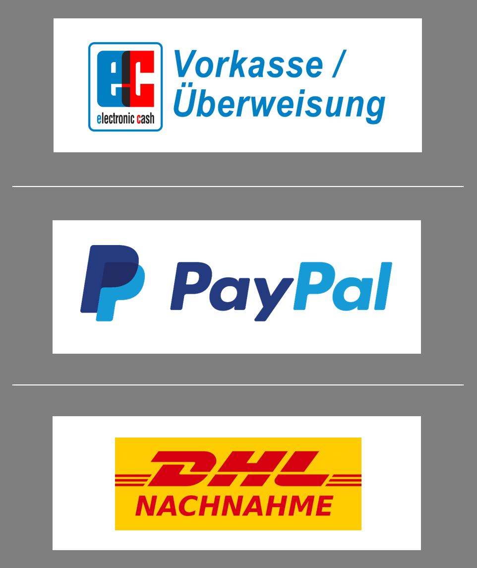 Zahlungsmoeglichkeiten(PP, Überweisung, Nachnahme)